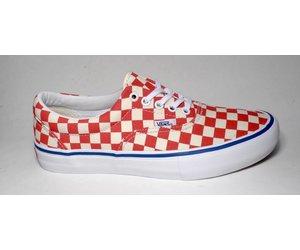 b1a5468a090a2b Vans Era Pro (Checkerboard) - Rococco Red Classic White - FA SKATES