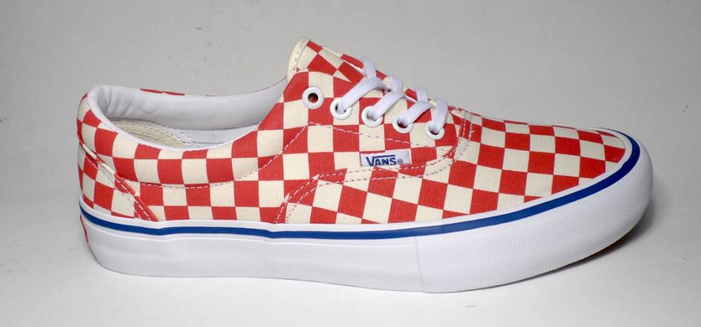 Vans Era Pro (Checkerboard) - Rococco Red Classic White - FA SKATES cd7182831