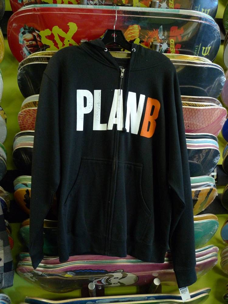 Plan B Plan B Zip-up Hoodie - Black (size Small)
