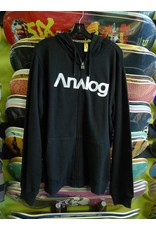 Analog Compund 2 Zip-up Hoodie - Black (Small)
