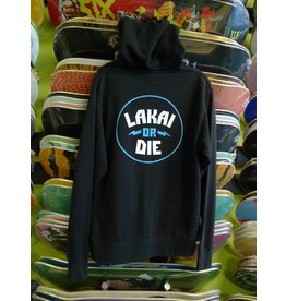 Lakai Lakai or Die Zip-up Hoodie - Black (size Small)