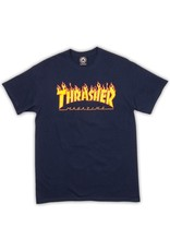 Thrasher Mag Thrasher Flame T-shirt - Navy