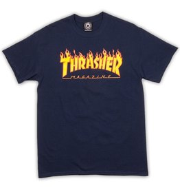 Thrasher Mag Thrasher Flame T-shirt - Navy (size Large or X-Large)