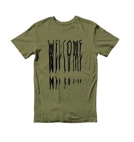 Welcome Welcome Drag T-shirt - Olive/Black (size Small)