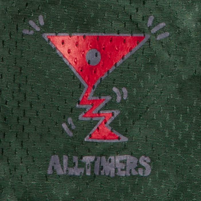 Alltimers Alltimers Action Logo Mesh Shorts - Dark Green