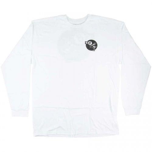 Vans Vans Sk8 Ball Longsleeve T-shirt - White (size Large)