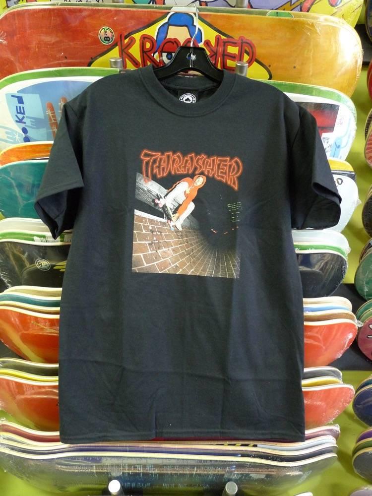 Thrasher Mag Thrasher China Banks T-shirt - Black (size X-Large)