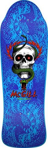 Powell Powell Peralta Bones Brigade McGill Blue Re-Issue Deck - 9.94 x 30.43 (10th series)