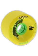 Remember Collective Remember Collective Hoot Slide Yellow 70mm 80a wheels (set of 4)