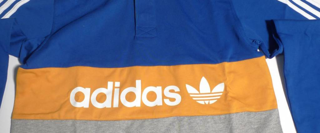 Adidas Adidas Heritage Colorblocked Polo - Royal Blue/Godenrod/Heather Grey