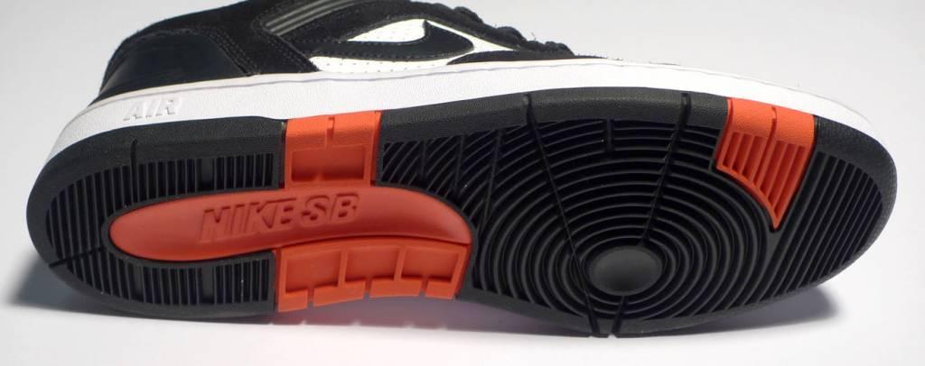 Nike sb Air Force II Low - Black/Black-White-Habanero Red