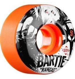 Bones Wheels Bones STF v1 Bartie Rangas 51mm Orange Wheels (set of 4)