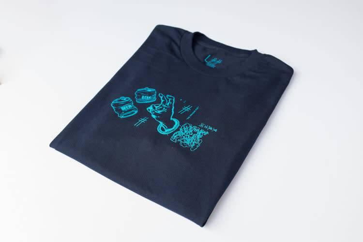 Scumco & Sons Scumco & Sons Dragon Fist T-shirt - Navy (size Large)