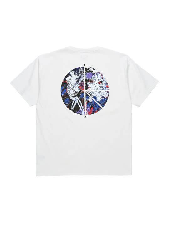 Polar Polar Skeleton Fill Logo T-shirt - White (size X-Large)