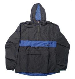 Theories Brand Theories Brand Stamp Sport Jacket - Black/Royal (size Medium or X-Large)
