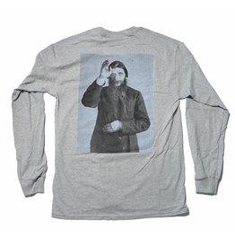 Theories Brand Theories Rasputin Longsleeve T-shirt - Heather Gray (Size Medium or X-Large)