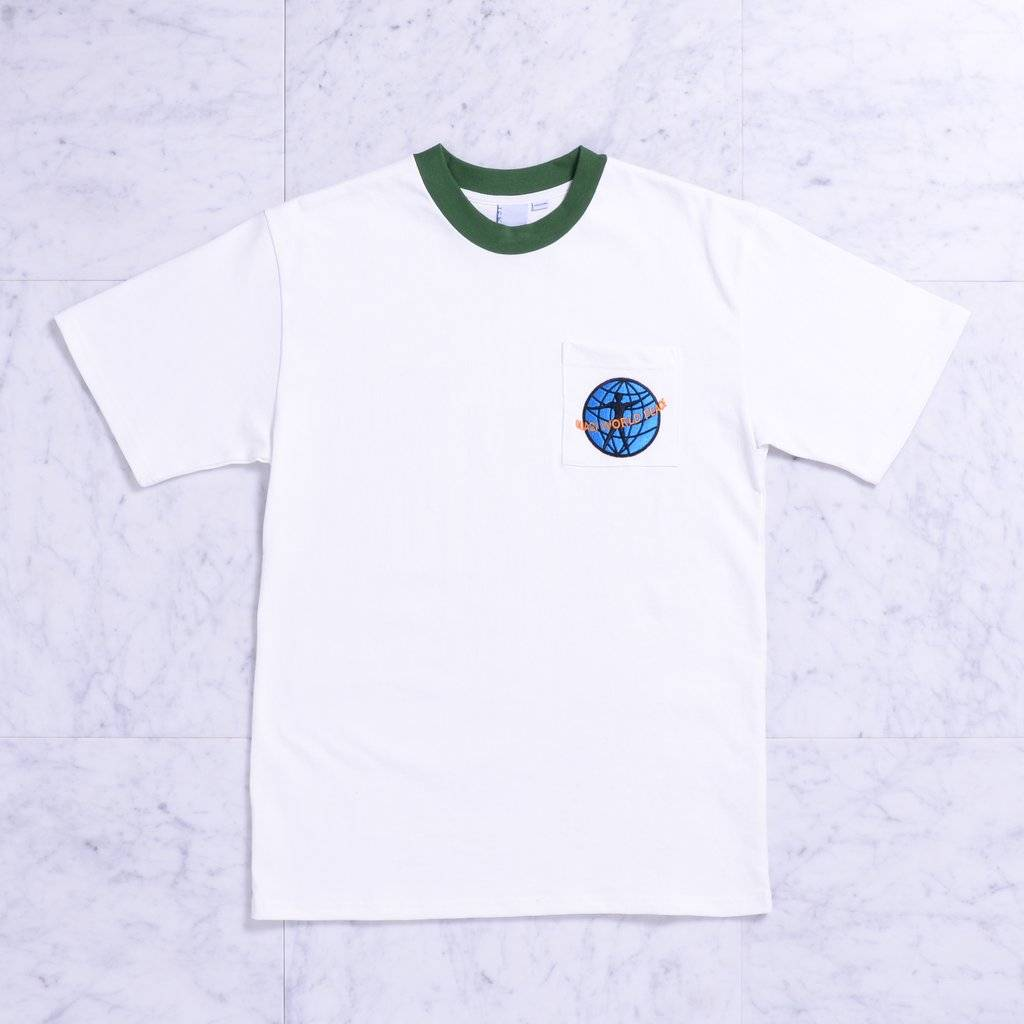 Quasi Quasi World Peace Pocket T-shirt - Forest