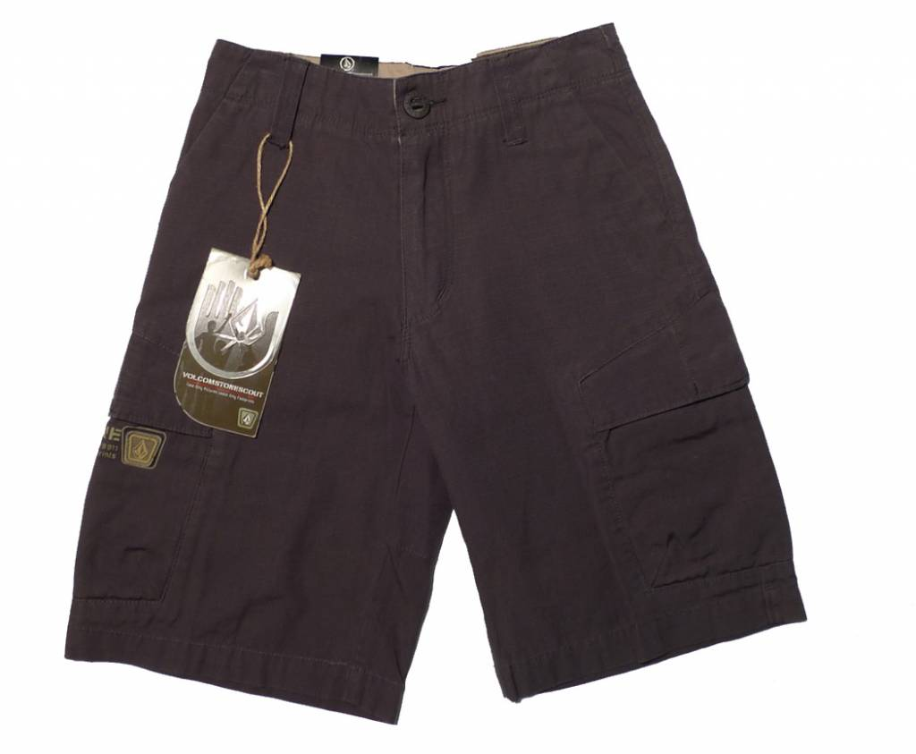 Volcom Crimson Youth Shorts - Charcoal (size 22)