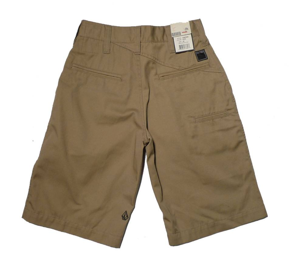 Volcom Wierdo Chino Youth Shorts - Navy (size 22)