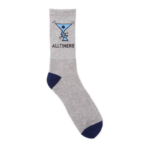 Alltimers Alltimers Action Logo Socks - Grey/Navy