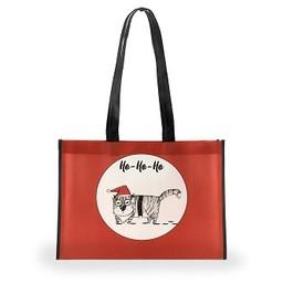 Holiday Shopping Bag, Grouchy Cat, Medium