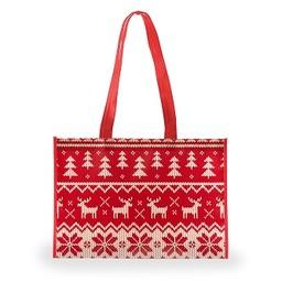 Holiday Sweater Shopping Bag, Medium