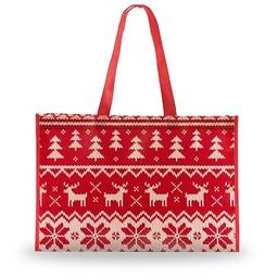 Holiday Sweater Shopping Bag, Large