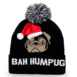 Holiday Pom Beanie-Bah HumPug