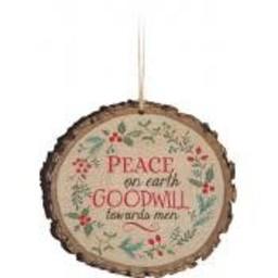 Barky Ornament-Peace on Earth Wreath