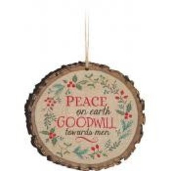 Barky Ornament-Peace on Earth Wreath