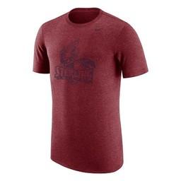 Nike TriBlend Short Sleeve Tee - Cardinal Heather -