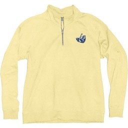 Blue 84 Sanded Fleece 1/4 Zip - Butter Yellow -