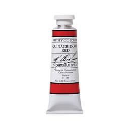 ARTISTS' OIL COLOR, QUINACRIDONE RED, 1.25 OZ.