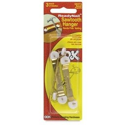 Readynail Sawtooth Hanger, 3ct