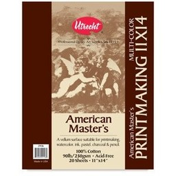 AMERICAN MASTER'S MULTICOLOR PRINTMAKING PAD 11X14