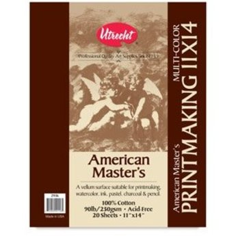 AMERICAN MASTER'S MULTICOLOR PRINTMAKING PAD 11X14