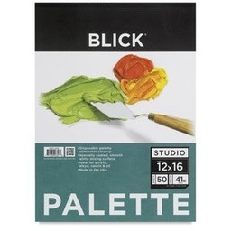 Blick Disposable Palette Paper Pad, 50 Sheets, 12""