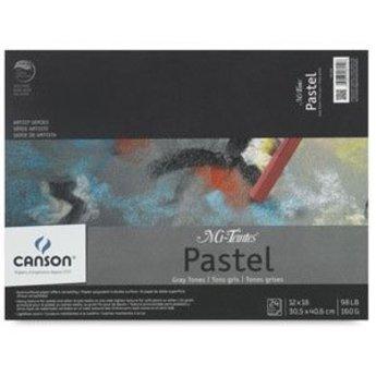 "Canson Mi-Teintes Pastel Pad, Gray Tone, 24 Sheets, 12"" × 16"""