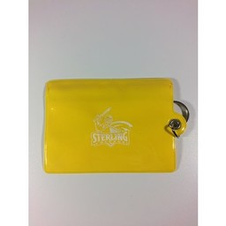 ID Holder, Vinyl Ziplock, Yellow