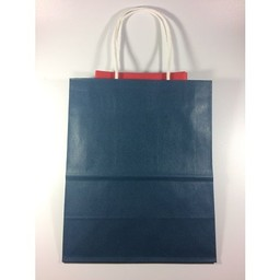 Blue Gift Bag/Red Tissue Paper, Medium