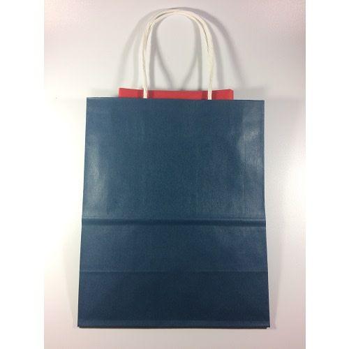 Blue Gift Bag/Red Tissue Paper, Medium