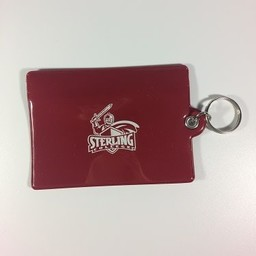ID Holder, Vinyl Ziplock, Burgundy
