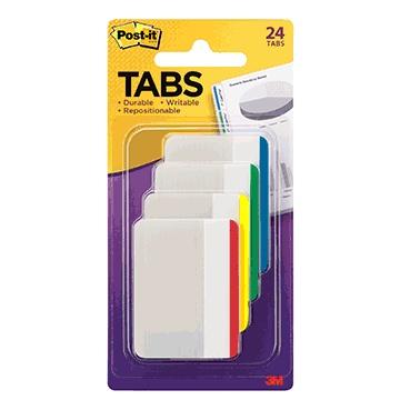 "Post-It® Durable Filing Tabs 2"" x 1-1/2"""