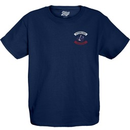 Blue 84 Youth Cotton Tee - Navy Blue