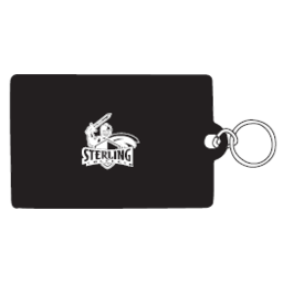 ID Holder, Vinyl Ziplock, Black