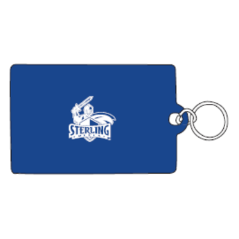 ID Holder, Vinyl Ziplock, Blue