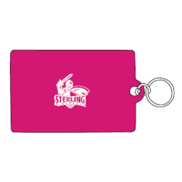 ID Holder, Vinyl Ziplock, Hot Pink