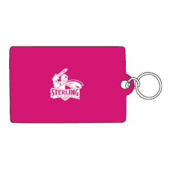 ID Holder, Vinyl Ziplock, Hot Pink