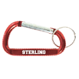 Varsity Line Carabiner Keytag - Red
