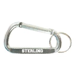 Varsity Line Carabiner Keytag - Chrome